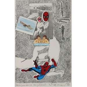 """Nelson Leirner - impressão e colagens sobre papel - 33 x 23 cm - """"Correspondência Angelical"""" - ass. inferior direito - 1983"""
