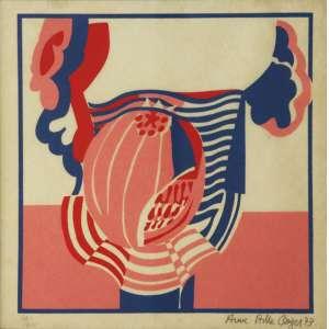 """Anna Bella Geiger - gravura - 32 x 32 cm - """"Sem Título"""" - ass. inferior direito - 1973 - T 97/100"""