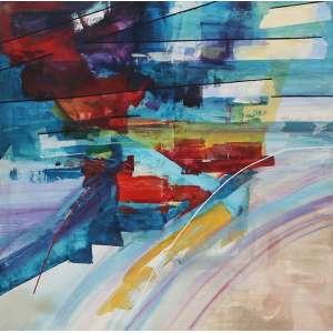 "Adriana Banfi - acrílica sobre tela - 150 x 150 cm - ""Spriagli di Lice II"" - ass. verso - 1991"