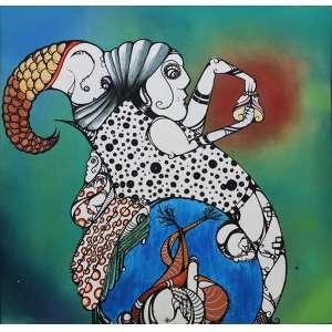 """Gen Duarte - grafite sobre tela - 100 x 100 cm - """"Sem Título"""""""