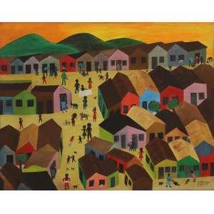 """Waldomiro de Deus - óleo sobre tela - 100 x 122 cm - """"Cachoeira de Mane Rock"""" - ass. inferior direito - 1968"""
