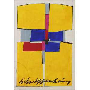 "Silvio Oppenheim - guache sobre papel - 55 x 40 cm - ""Sem Título"" - ass. centro inferior"