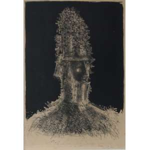 """Marcelo Grassmann - litografia - 40 x 30 cm - """"Guerreiro"""" - ass. inferior direito - T 7/50"""