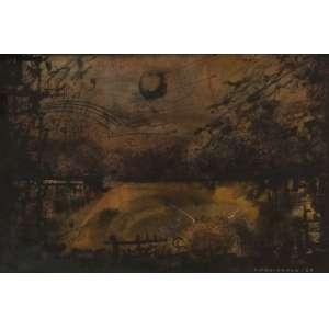 """FERNANDO ODRIOZOLA - técnica mistas sobre cartão - 25 x 35 cm - """"Abstrato"""" - ass. inferior direito - 1968 -"""