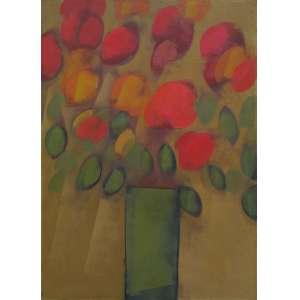 """CARLOS SCLIAR - vinil encerado sobre tela - 75 x 55 cm - """"Flores varias"""" - ass. verso - Cabo Frio - RJ - 1991 -"""