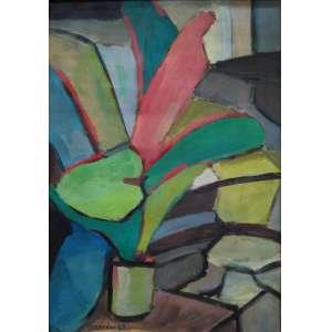 """BONADEI, ALDO - óleo sobre cartão - 49 x 33 cm - """"Vaso de Flor"""" - ass. inferior esquerdo - 1967 -"""