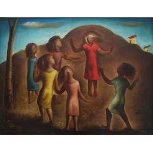 """TERUZ, ORLANDO - óleo sobre tela - 92 x 72 cm - """"Cabra Cega"""" - ass. inferior direito - 1966 -"""