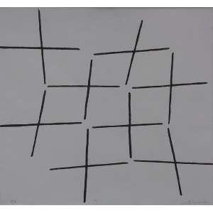 """JUDITH LAUAND - serigrafia - 35 x 35 cm - """"Linhas"""" - ass. inferior direito - P.A. -"""