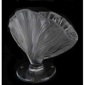 """Floreiro cristal Lalique """"Ichor"""" lapidado e jateado. 25 x 35 cm - França, séc. XX"""