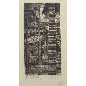 Lívio Abramo - gravura 30 x 17 cm Praia ass. CIE t. 4/30 Rio de Janeiro 1957