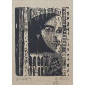 Lívio Abramo - gravura 27 x 20 cm Figura Feminina ass. CIE F/N 1954