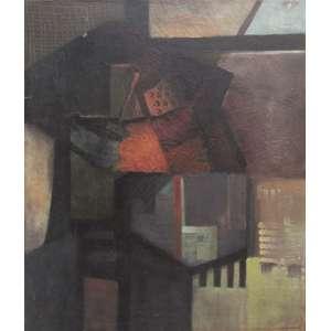 Valdir de Castro - óleo sobre tela 60 x 50 cm O Soldado ass. CIE 1982 etiqueta Dan Galeria
