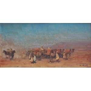 Dario Mecatti - óleo sobre madeira 20 x 40 cm Caravana ass. CID