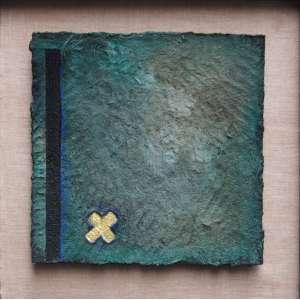Ofra Grinfeder - técnica mista 45 x 45 cm Sem título ass. verso ex-coleção Nara Roesler