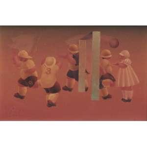 """Daniel Carranza - óleo sobre madeira 22 x 33 cm """"El que nunca estuvo em uma de estas: que tire La primera pedra"""" ass. CIE e verso out/1984"""