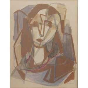 Fayga Ostrower - aquarela sobre cartão 39 x 31 cm Figura Feminina ass. CID coleção Martin Wurzmann