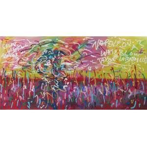 José Roberto Aguilar - óleo sobre tela 100 x 200 cm Avant la Bataille - Napoleon a Waterloo ass. CSE