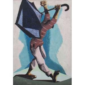 Clóvis Graciano - óleo sobre madeira 108 x 76 cm Dançarino de frevo ass. CIE cisca 1953, provavelmente quadro elaborado como estudo para outro utilizado para cartão postal da Varig. Projeto Clóvis Graciano