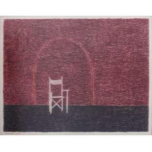 Eleonore Koch - técnica mista sobre cartão 38 x 48 cm Cadeira ass. CIE 1970 coleção Martin Wurzmann