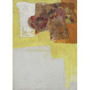 Silvio Oppenheim - técnica mista sobre madeira 70 x 50 cm Sem título ass. centro 1966 coleção Martin Wurzmann