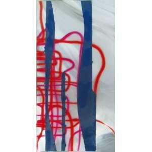 Carlito Carvalhosa - pintura sobre espelho laminado 180 x 90 x 1 cm Sem título não assinada 2007 Certificado de Autenticidade do Gabinete de Arte Raquel Arnaud