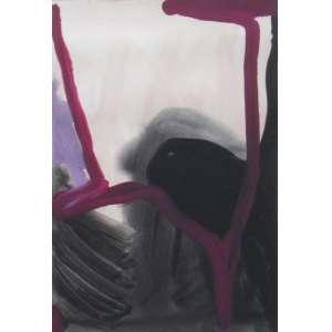 Paulo Monteiro - guache sobre papel 71 x 50 cm Sem Título ass. centro inferior 1995 Certificado de Autenticidade da Galeria de Arte Marilia Razuk