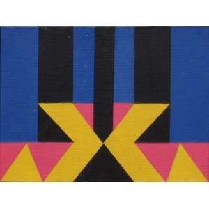 Jandyra Waters - óleo sobre tela 16 x 22 cm Sem título ass. verso 1979