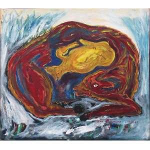 Luiz Hermano - óleo sobre tela 75 x 90 cm Sem título ass: CID e verso 1985