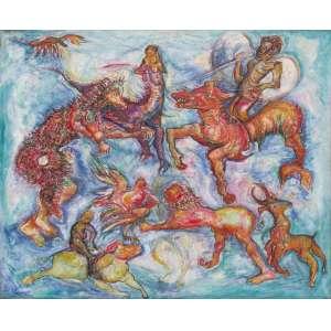 Luiz Hermano - óleo sobre tela 100 x 120 cm Sem título ass: verso 1983