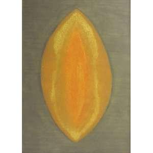 Piza, Arthur Luiz - goiva e ponta-seca a cores sobre papel 105,5 x 75 cm Cosmos Jaune ass. CID 1972 reproduzida no catálogo de gravuras nº 159