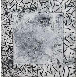 Sérgio Rabinovitz - acrílica sobre tela 121 x 121 cm Fossilis ass. verso 2002 reproduzido na pág. 34 do Catalogo da Exposição Individual do Artista na B&L Galeria de Arte em 2006, ex-coleção Waldemar Szaniecki