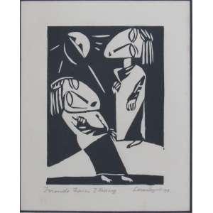 Lasar Segall - xilogravura 16 x 12 cm Mulheres Errantes ass. CID 1918 reproduzido no livro A Gravura de Lasar Segall pág. 38, coleção Martin Wurzmann