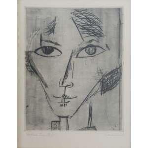 Lasar Segall - ponta-seca (matriz de zinco) 36 x 28 cm Retrato da Sra. Dr. W ass. CID. reproduzido no livro: A Gravura De Lasar Segall pág. 39 com obs.: retrato de Mary Wygmann (1886-1973) - bailarina expressionista alemã, coleção Martin Wurzmann