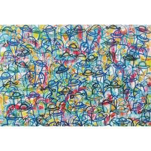 """David Dalmau - acrílica sobre tela 130 x 190 cm """"Movimento"""" ass. CID 2007"""