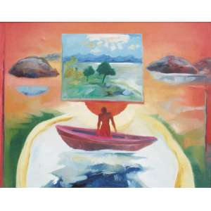 Aloysio Zaluar - óleo sobre tela 72 x 91 cm Pintura Rural III - Caminho das Pedras - Pedra de Guaratiba ass. centro e verso 1975 etiqueta A Galeria, ex-coleção Waldemar Szaniecki
