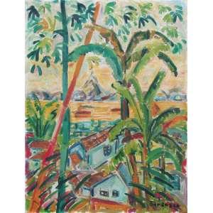 Sorensen, Carlos Haraldo - óleo sobre tela 65 x 50 cm Favela da Rocinha ass. CID e verso