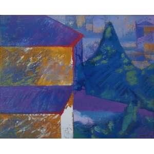 Carmelio Cruz - óleo sobre tela 81 x 100 cm Casas ass. CID 1986