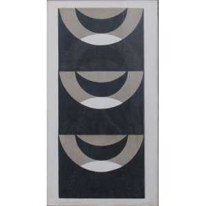 "Guersoni, Odetto - gravura 89 x 48 cm ""Formas Justapostas XXXIII"" ass. CID t. 10/10 1970"