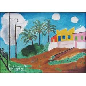 Cardoso e Silva - óleo sobre tela 15 x 21 cm Sem título ass. CIE e verso 1972 etiqueta A Galeria, ex-coleção Waldemar Szaniecki