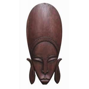 """Otávio Bahia - escultura em madeira 77 x 34 cm """"Africana"""" ass. verso 1972"""