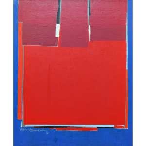 "Silvio Oppenheim -óleo sobre tela 73 x 60 cm ""Sem Título"" ass. CIE 1988"