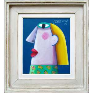 """Gustavo Rosa - óleo sobre tela 25 x 30 cm """"Rosto"""" ass. CSD e verso 2009"""