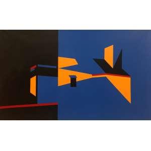 Claudio Roncoli - acrílica sobre tela 100 x 160 cm Paisaje ass. verso 2017 - acompanha certificado do Instituto Adelina