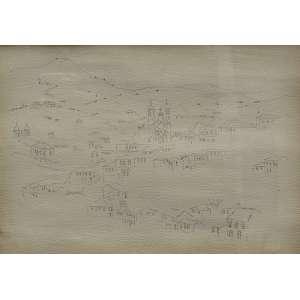 """Alberto da Veiga Guignard - lápis sobre papel 28 x 40 cm """"Sem título"""" ass. inferior esquerdo"""