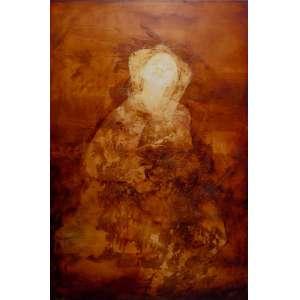 Carlos Araújo - óleo sobre tela 160 x 100 cm Criança em Dourado ass. CID com recibo de venda da Marques Galeria/SP