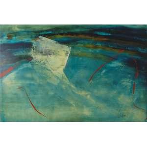 Carlos Araújo - óleo sobre madeira 160 x 100 cm Mulher em Azul ass. CID dec. 90 com recibo de venda da Marques Galeria Shopping Center Iguatemi/SP