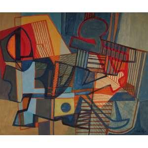 Roberto Burle Marx - panneaux em chapa industrializada 128 x 156 cm Abstração ass. CID 1991 com recibo de venda da Marques Galeria Shopping Center Iguatemi/SP