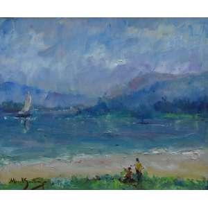 Manoel Santiago - óleo sobre tela 54 x 65 cm Paisagemass. CIE e verso