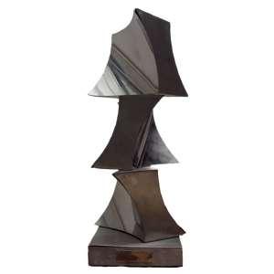 Yutaka Toyota- escultura de mesa em aço inoxidável 27 x 10 x 10 cm Sem Titulo ass. base t. 81/150