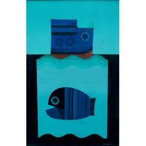 Yasuo Nakamura - óleo sobre tela 60 x 40 cm Aquário ass. CID 1973